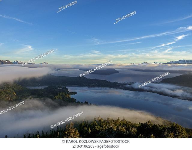 Nahuel Huapi Lake seen from Cerro Campanario, Nahuel Huapi National Park, Rio Negro Province, Argentina