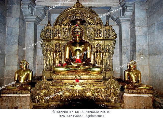 Metallurgy tirthankara jain statue, ranakpur, rajasthan, india, asia