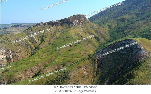 Aerial footage of southern Golan Heights