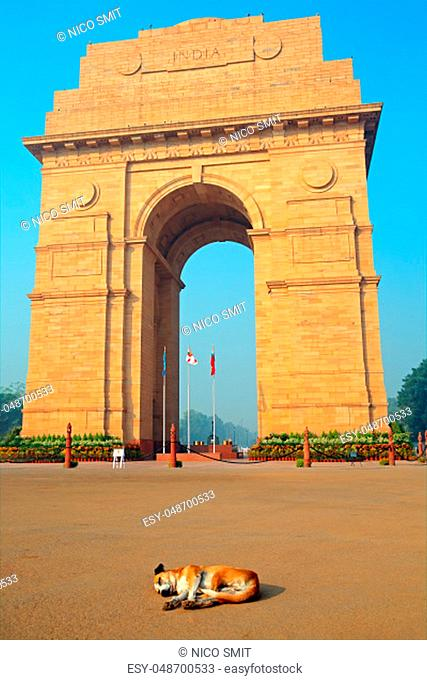Architectural detail of the war memorial, India Gate - New Delhi, India
