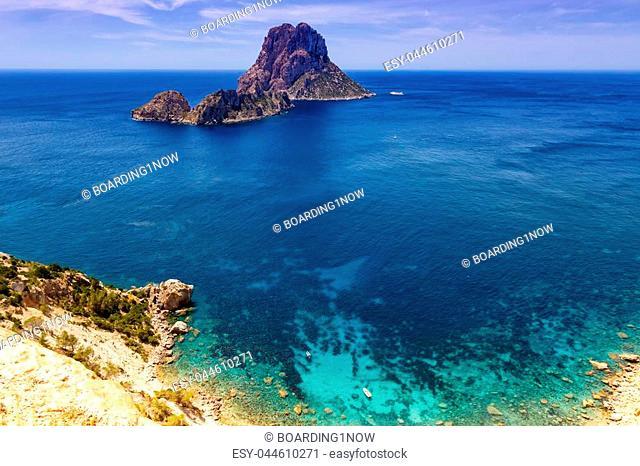 Ibiza island Spain Es Vedra rock travel Mediterranean Sea bay vacation traveling