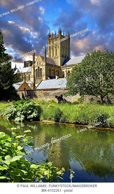 Medieval Wells Cathedral, Wells, Somerset, England