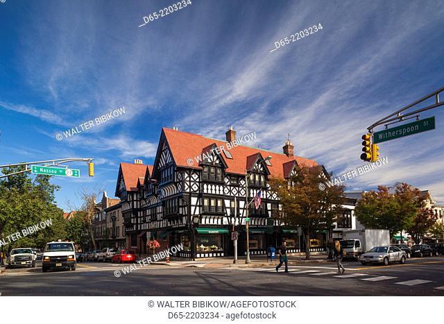 USA, New Jersey, Princeton, Princeton University, Nassau Street buildings
