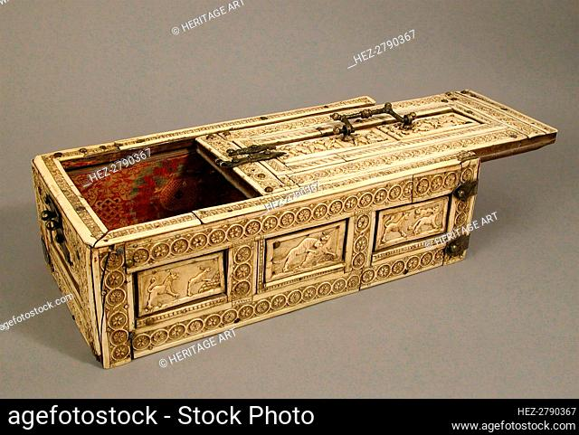 Casket with Erotes and Animals, Italian or Byzantine, 12th century. Creator: Unknown