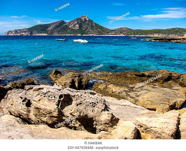 View to Dragonera in Mallorca Baleares Spain