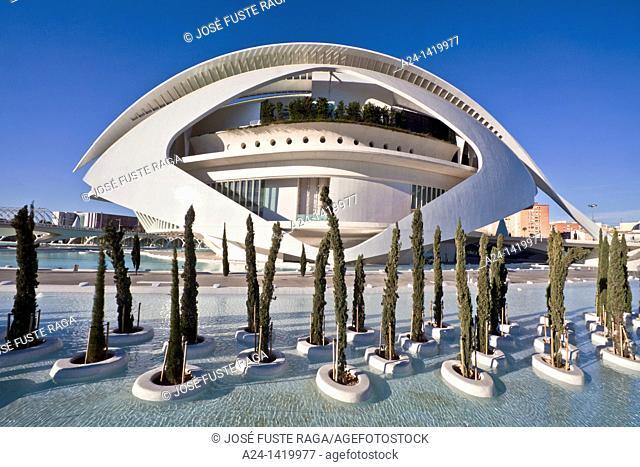 Spain, Valencia Comunity, Valencia City, The City of Arts and Science built by Calatrava, The Palace of Arts