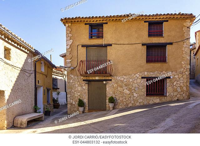 Historical core streets. View of the narrow streets that form the historical core of Somaén
