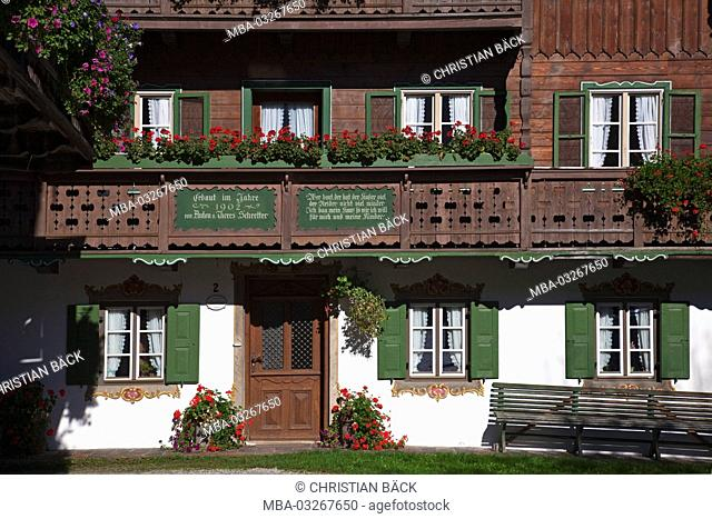 House in Kochel am See, Upper Bavaria, Bavaria, Germany