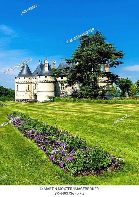 Chaumont castle, Chateau de Chaumont, with parkland, Chaumont-sur-Loire, Department Loir-et-Cher, France