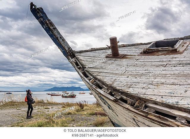 Puerto Natales, Región de Magallanes , Antártica Chilena, Patagonia, República de Chile,América del Sur