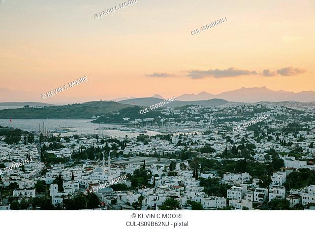 View of town, Bodrum, Mugla, Turkey