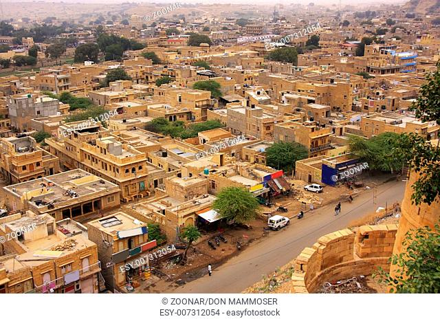 View of the town from Jaisalmer Fort, Rajasthan, I