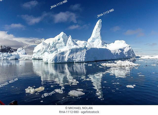 Huge iceberg in Port Lockroy, western side of the Antarctic Peninsula, Southern Ocean, Polar Regions
