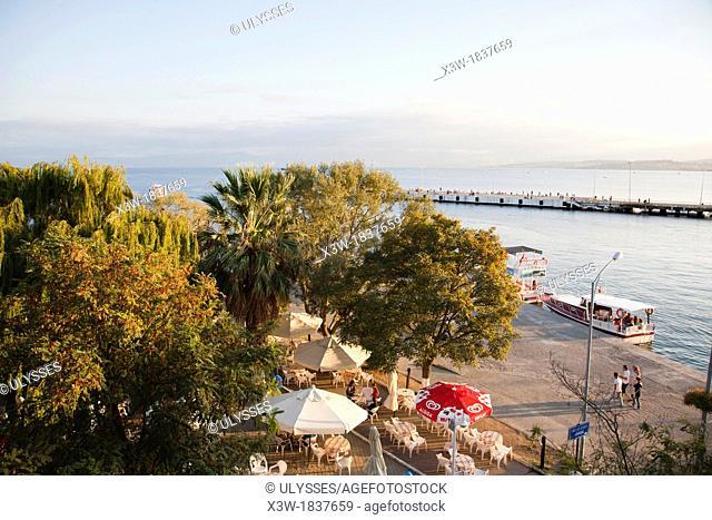 promenade and port, sinop, black sea, turkey, asia