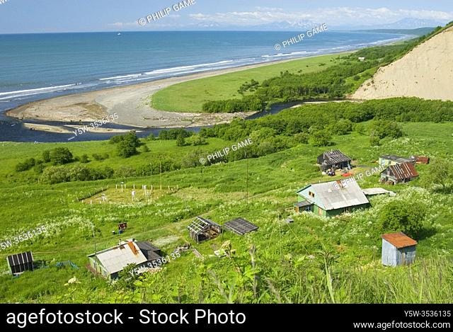Weather and ranger station on Olga Bay in the Kronotsky Reserve, Kamchatka, Russian Far East