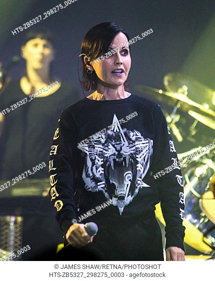 Dolores O'Riordan of The Cranberries in concert at The London Palladium, London, UK