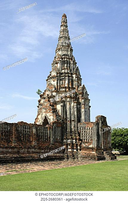 Thailand, Ayutthaya. 1350 A. D. Brick Shrine in one of the cardinal point