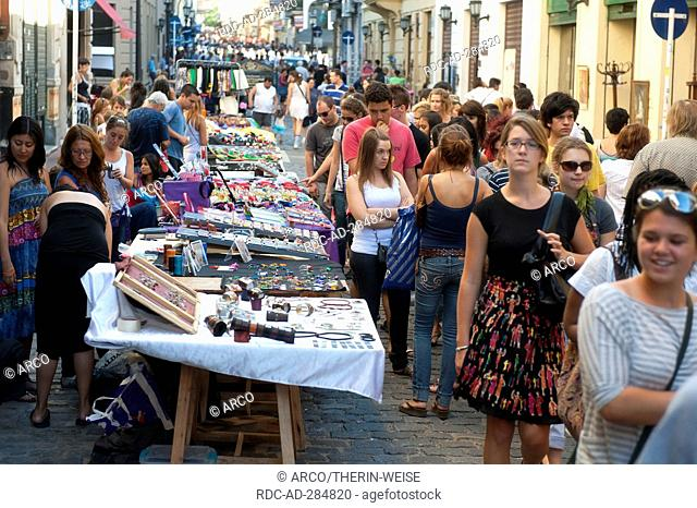 Plaza Dorrego, Sunday flea market, San Telmo, Buenos Aires, Argentina