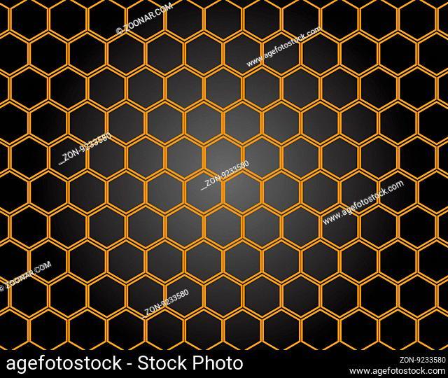 Honeycomb pattern background. Vector Illustration, EPS 10