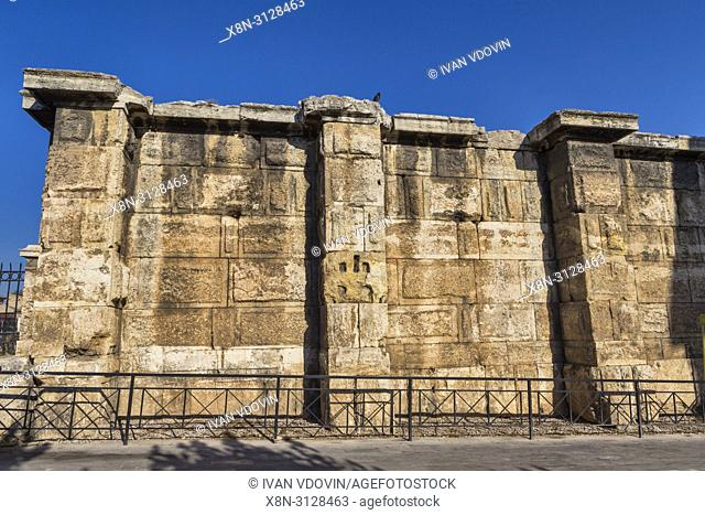 Hadrain's Library rear wall (132 AD), Athens, Greece