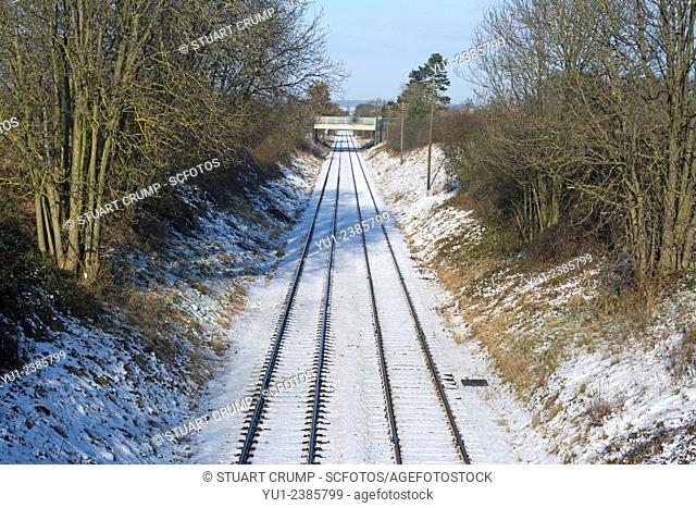 Snow cover tracks of the Great Central Railway