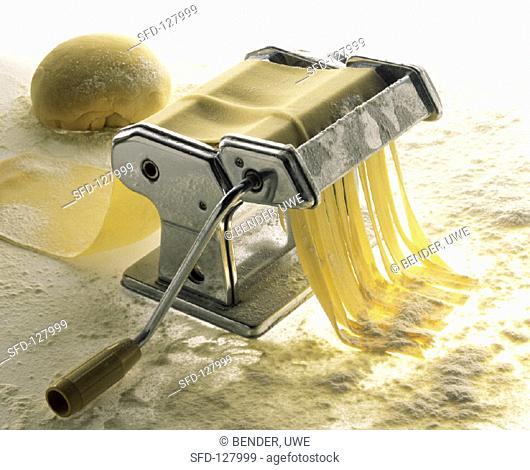 Pasta Dough in a Pasta Machine