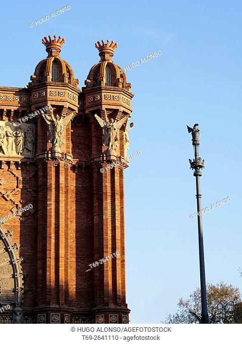 Triumphal Arch, Barcelona. Catalonia, Spain