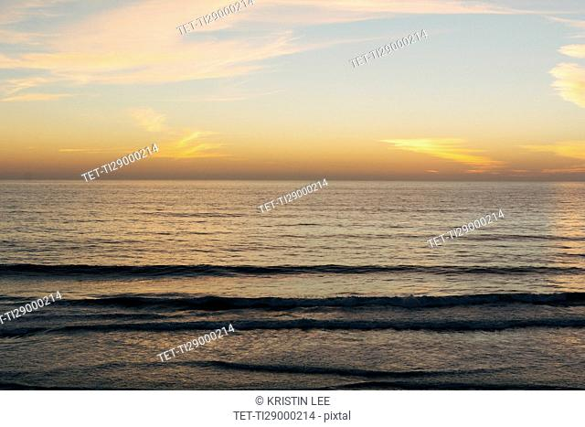 Scenic seascape at sunset