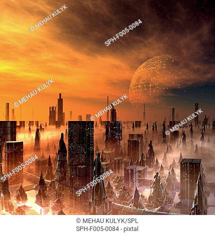 Alien city, artwork