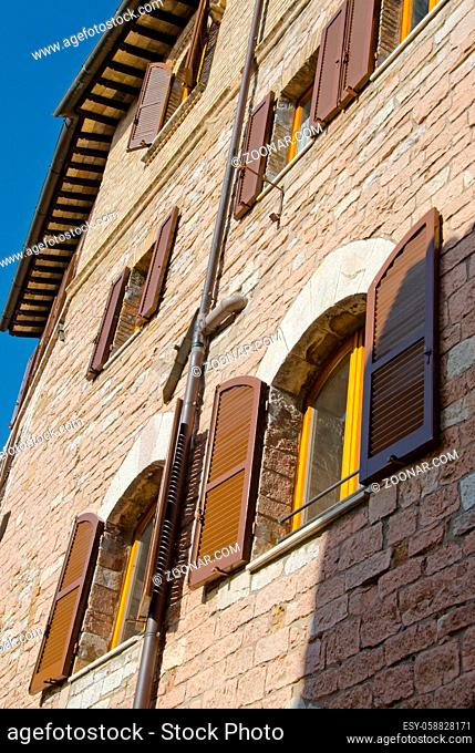 Architectural Detail of Assisi in Umbria, Italy