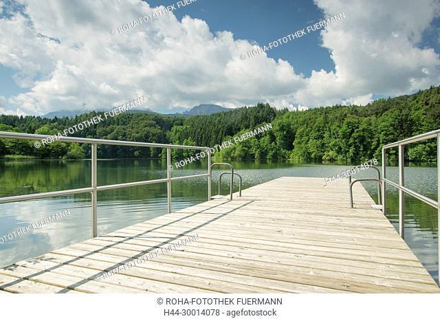 das Schwimmbad am Höglwörther See - der Steg