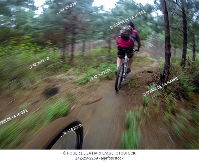 Mountain Biking. Karkloof. Howick. KwaZulu Natal Midlands. South Africa
