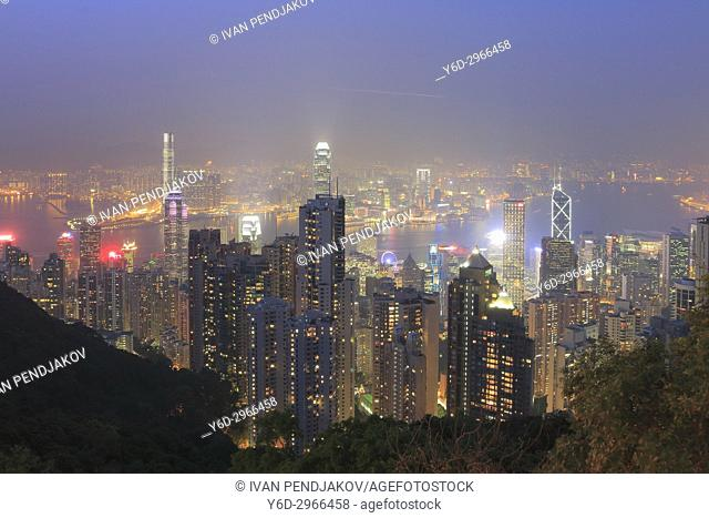 Hong Kong at Dusk, China