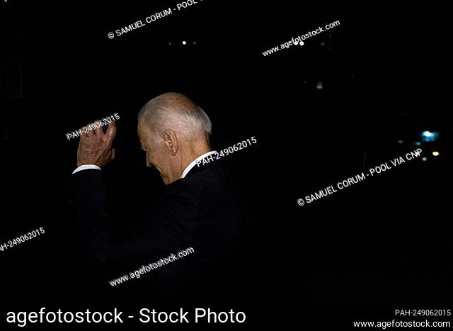 U.S. President Joe Biden walks away after answering questions from reporters as he returns to the White House in Washington, DC on Thursday, July 15, 2021