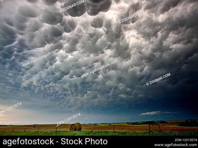 Storm Clouds Canada warning ominous skies Saskatchewan