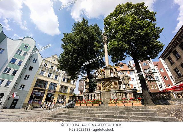plaza Rynek, klodzko, Sudetes, polonia, europe