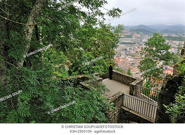 ancient military fortifications at Monte Urgull, San Sebastian, Bay of Biscay, province of Gipuzkoa, Basque Country, Spain, Europe