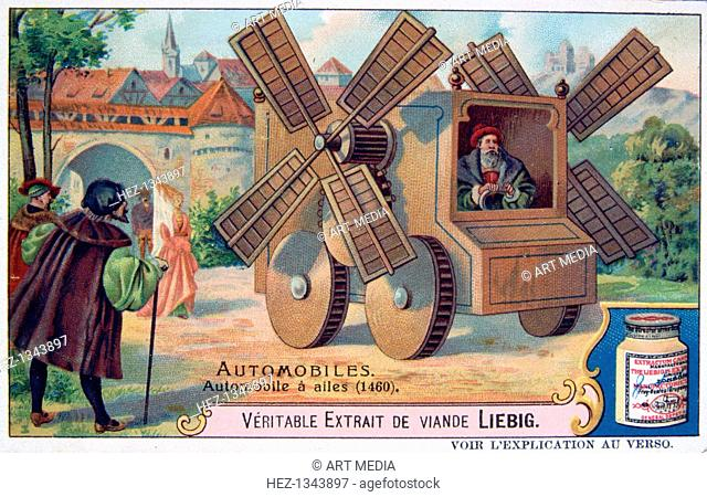 A Car with Blades, 1460, (c1900). French advertising for Liebig Extract of Meat. Private Collection