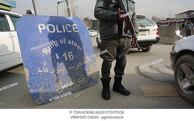 Afghan police checkpoint