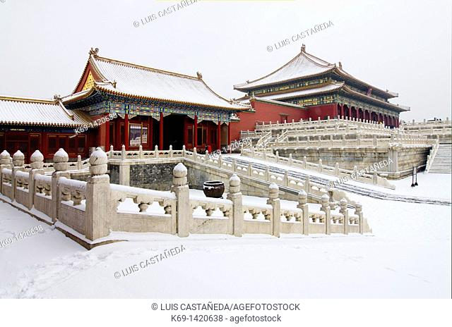 The Forbidden City in Winter  Beijing  China