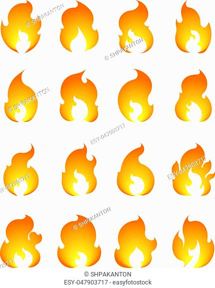 Set of 16 vector fires