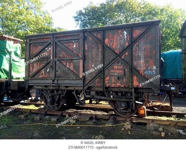 Railway Freight Wagon Grosmont North York Moors Railway North Yorkshire England UK Great Britain GB