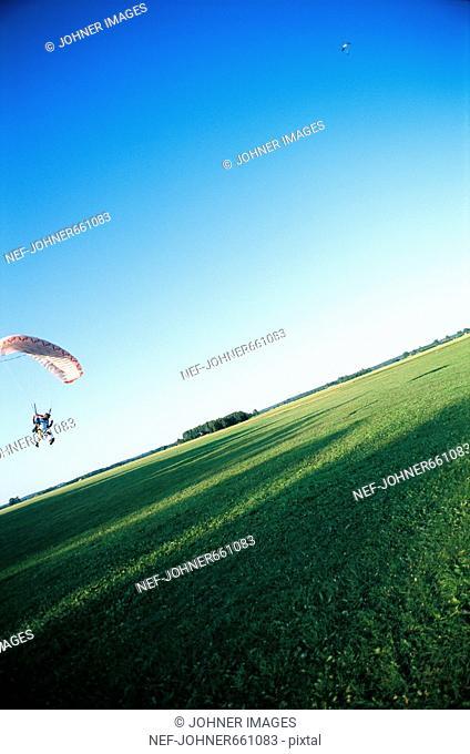 Parachute jumpers, Stockholm, Sweden