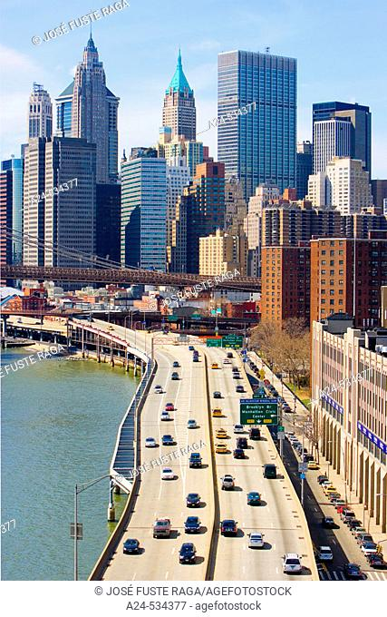 Elevated Highway. Downtown Manhattan. New York City. March 2006. USA