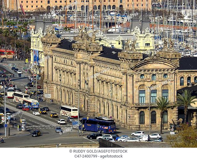 Customs building, Barcelona, Catalonia, Spain