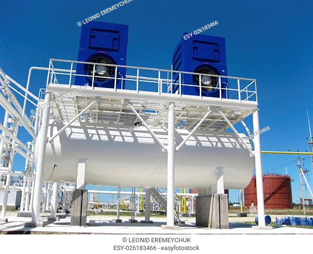 water cooling tower. Equipment for primary oil refining