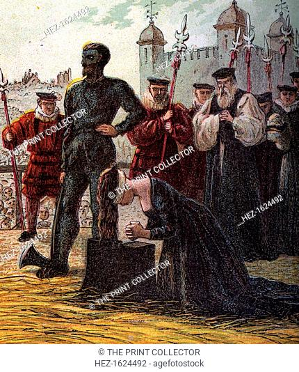 'Execution of Lady Jane Grey', 1554, (c1850). Jane was proclaimed queen on Edward VI's death in 1553 in an attempt to secure a Protestant succession