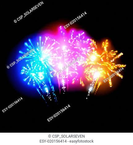Bright Fireworks Display