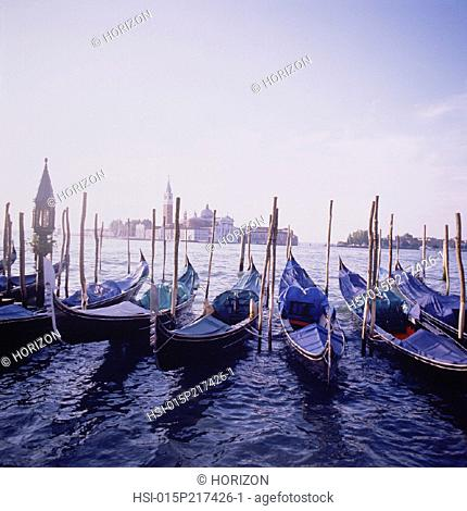 Travel, Italy, Venice, Waterfront, Gondolas