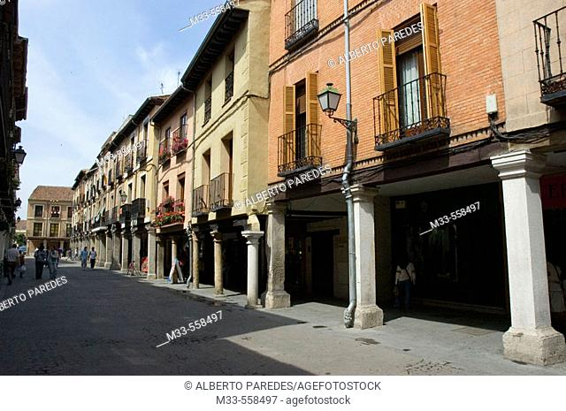 Main Street, Alcalá de Henares. Madrid, Spain